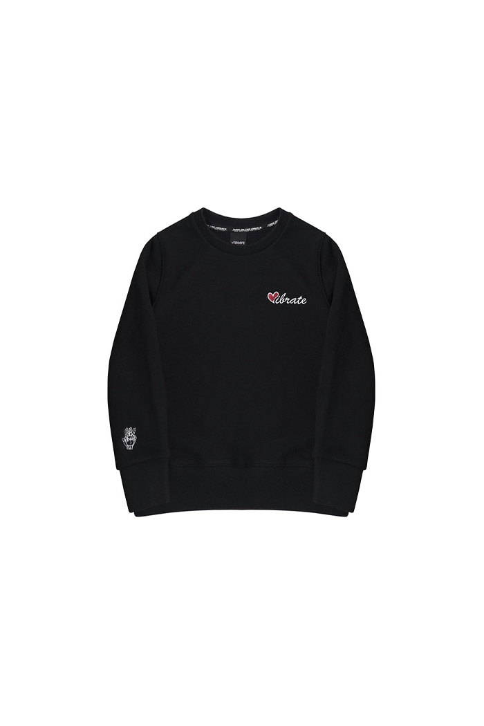 VIBRATEKIDS - LOVE SWEATSHIRTS (BLACK)