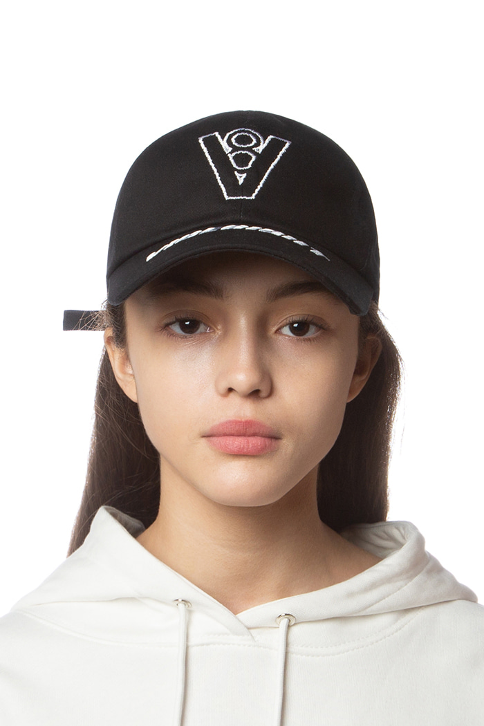 V8 MULTI LOGO BALL CAP (BLACK)