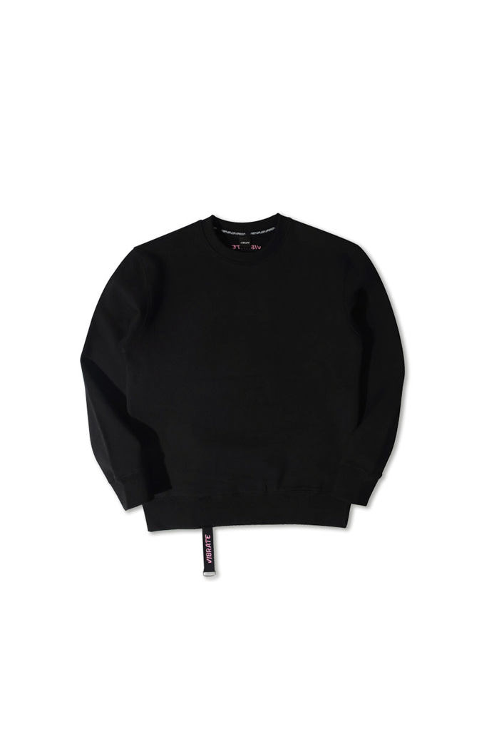 VIBRATEKIDS - SIMPLE WEBBING LOGO SWEATSHIRTS (BLACK)