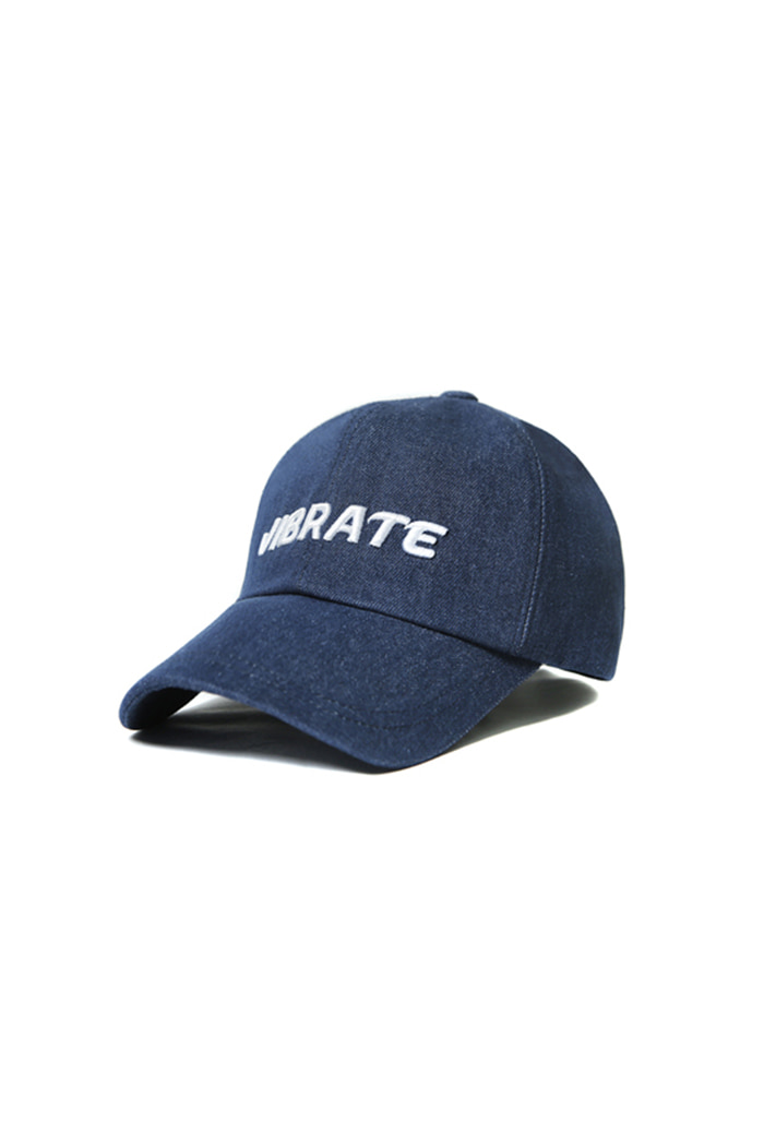 VIBRATEKIDS - SIGNATURE DENIM BALL CAP (WHITE)