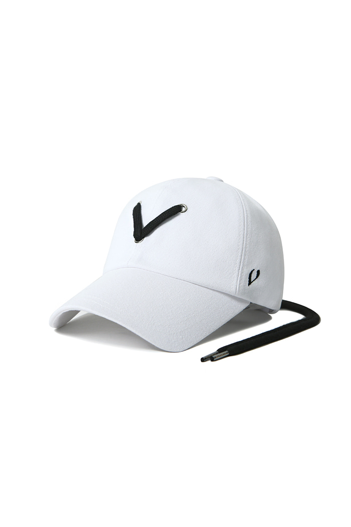 VIBRATEKIDS - STRING POINT BALL CAP (WHITE)