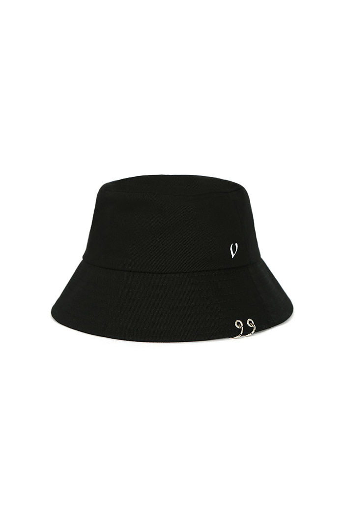 VIBRATEKIDS - TWIN RING BUCKET HAT (BLACK)