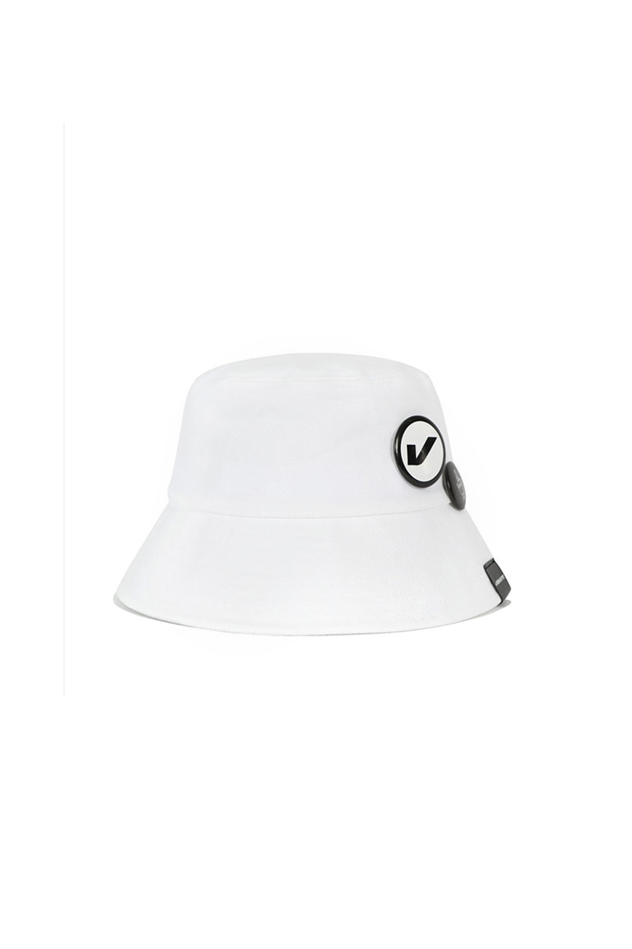 VIBRATEKIDS - CIRCLE BUCKET HAT (WHITE)