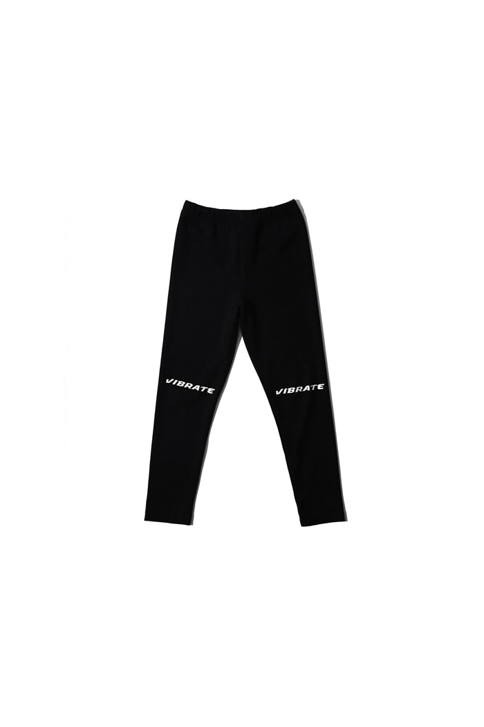VIBRATEKIDS - KNEE LOGO POINT LEGGINGS (BLACK)