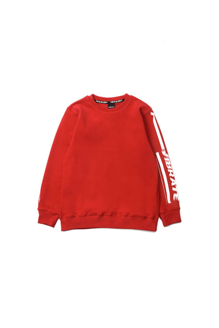 VIBRATEKIDS - CRACK STRIPE SWEATSHIRTS (RED)
