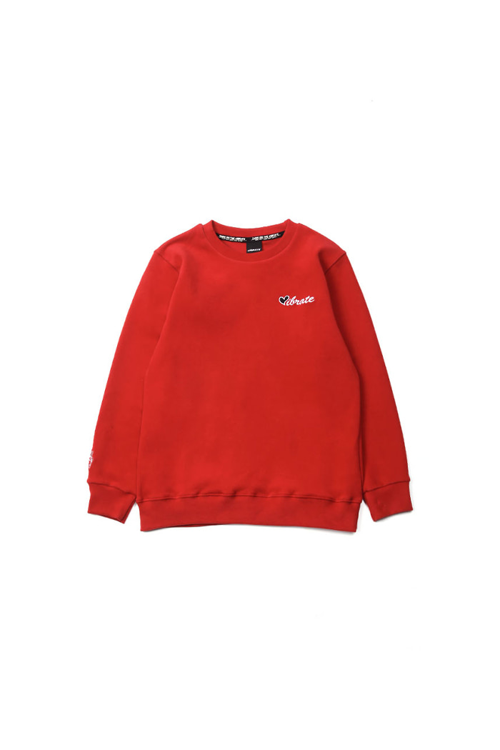 VIBRATEKIDS - LOVE SWEATSHIRTS (RED)