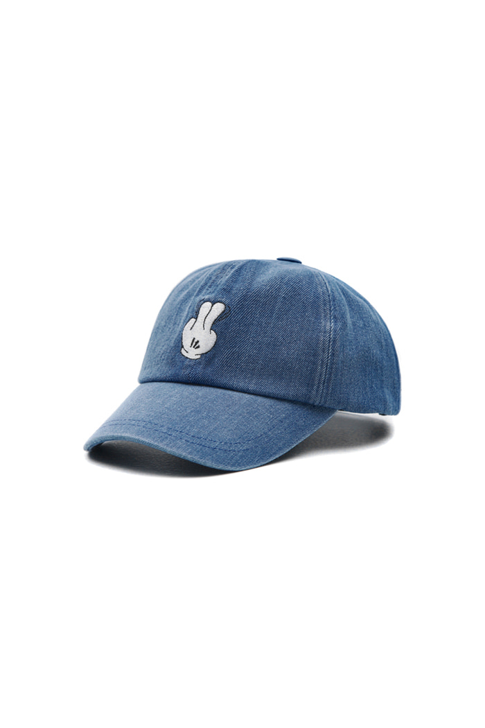 VIBRATEKIDS - DENIM FINGER BALL CAP (DARK DENIM)