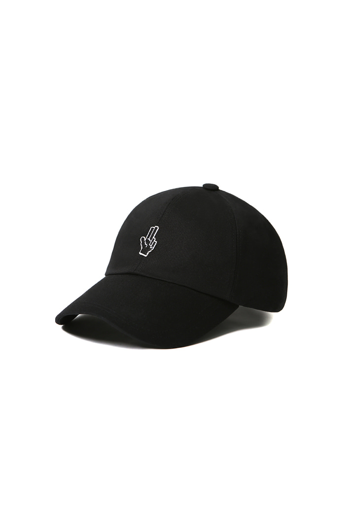 VIBRATEKIDS - SIMPLE HAND SHAKE BALL CAP (BLACK)