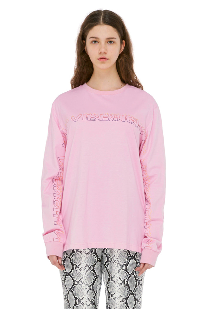 FLAME BASIC LONG SLEEVE (PINK)