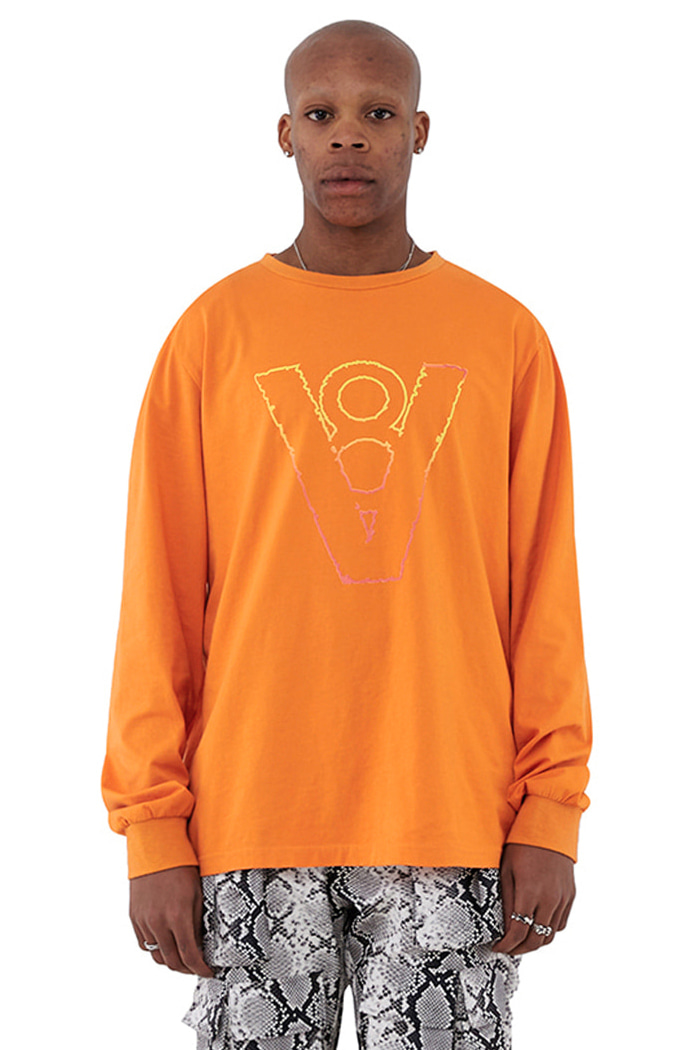 BLAZE LOGO LONG SLEEVE (ORANGE)