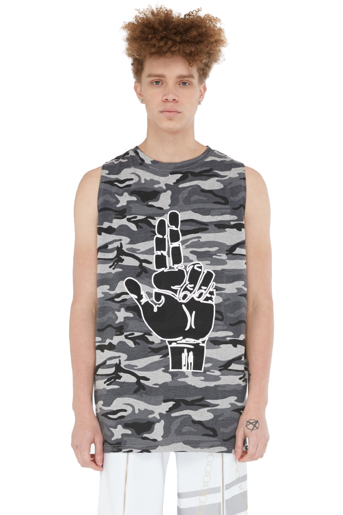 FINGER CAMO SLEEVELESS (BLACK CAMO)