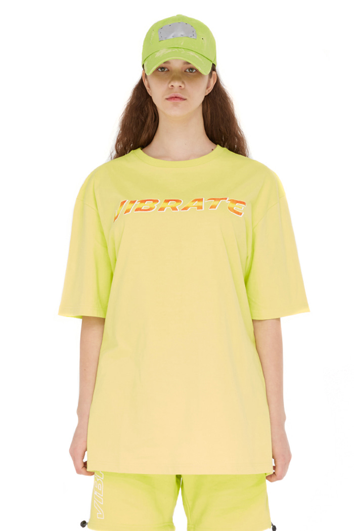 BACK PLANET LOGO T-SHIRT (LIME)