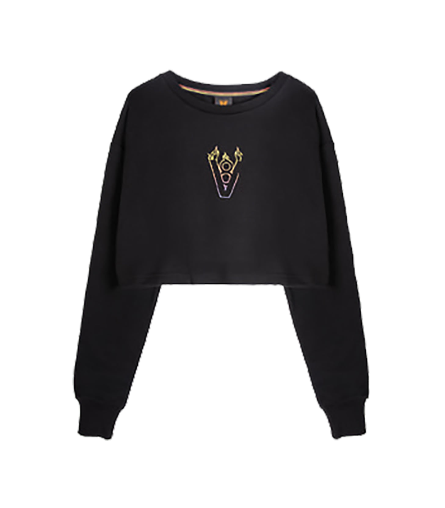 BLAZE LOGO CROP TOP (BLACK)