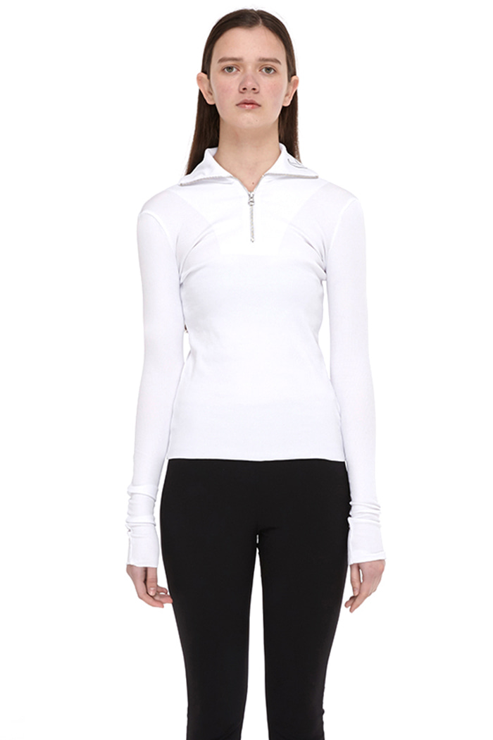 HIGHNECK ZIP TOP NO.2 (WHITE)