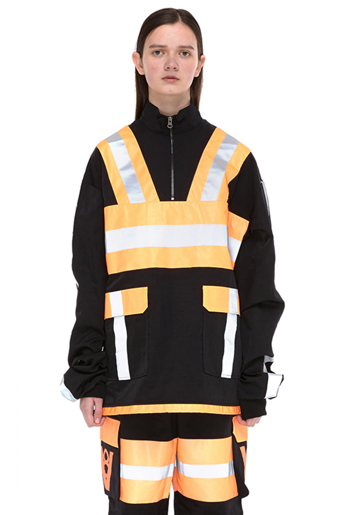 ORANGE SCOTCHLITE ANORAK (BLACK)