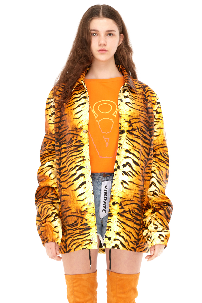 TIGER COACH JACKET (YELLOW)