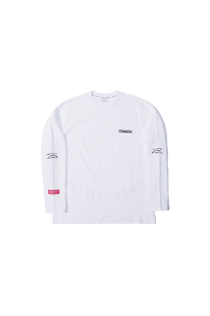 KEEP SMILING EMBROIDERY LONG SLEEVE (WHITE)