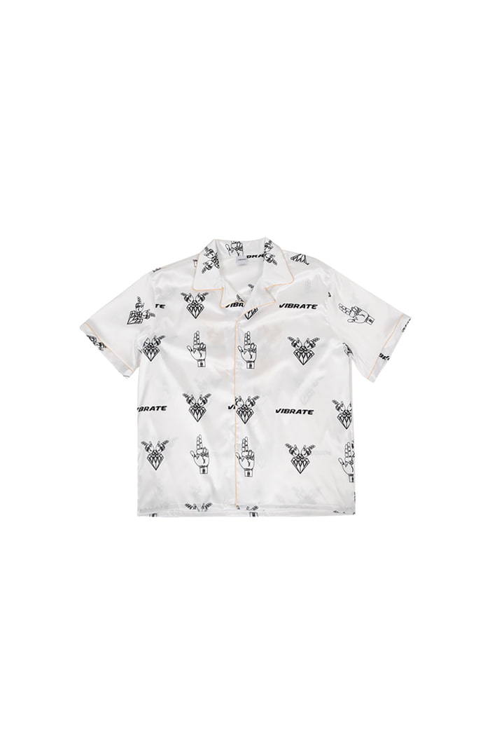 GOLDLINE PATTERN HILING SHIRT (WHITE)