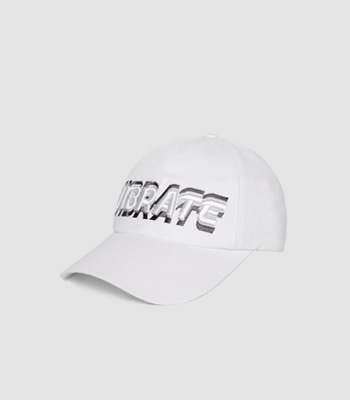VIBRATE - 3D SHAKING LOGO BALL CAP (white)