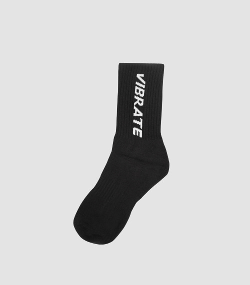 SIMPLE LOGO SOCKS (BLACK)