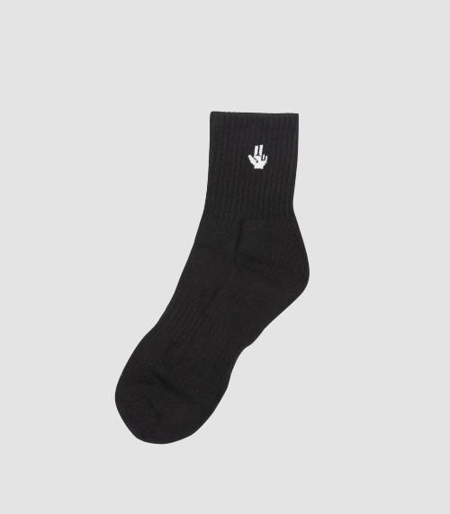 MINI HAND LOGO SOCKS (BLACK)