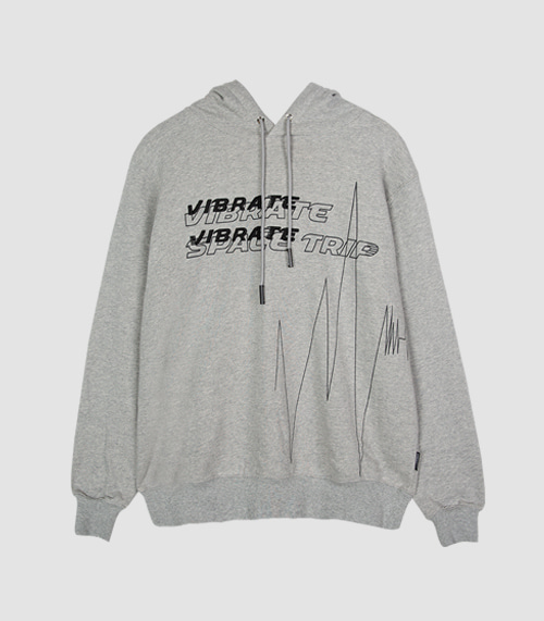 VIBRATE - PULSATION ART WORK HOODIE (GRAY)