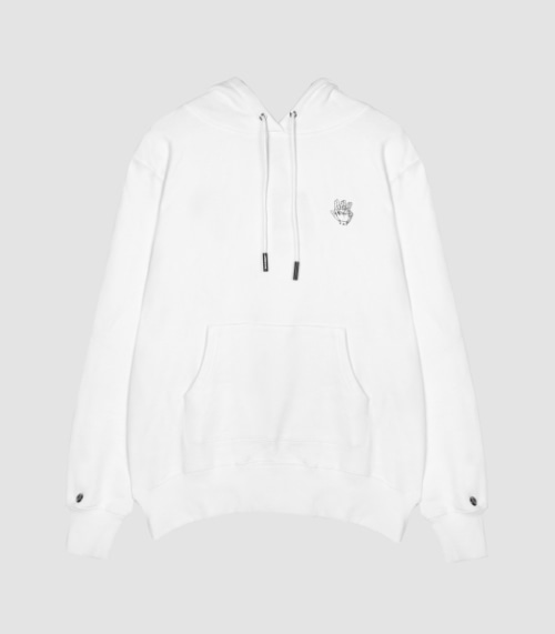 VIBRATE - LOGO ON TOP HOODIE (WHITE)