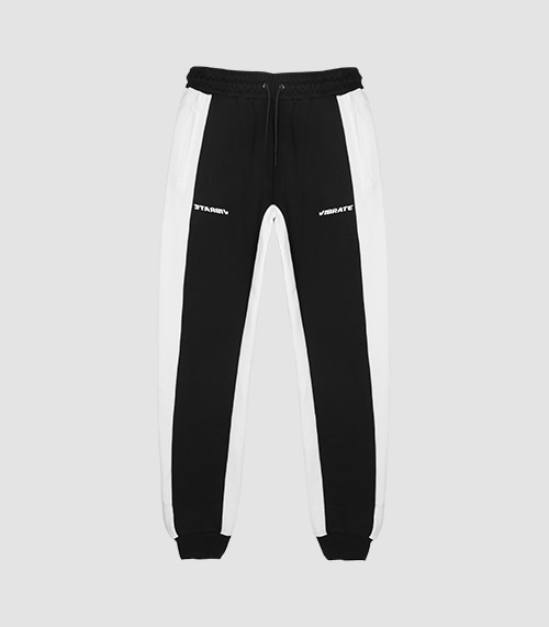 VIBRATE - RIDERS JOGGER PANTS VER.2 (BLACK & WHITE)