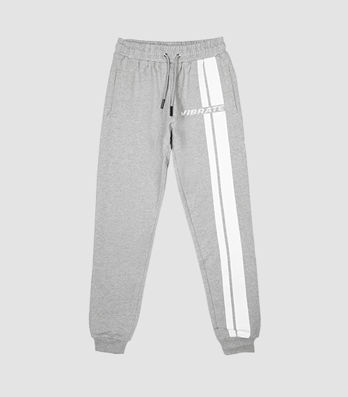 TRAFFIC ROAD LOGO JOGGER PANTS (GRAY)