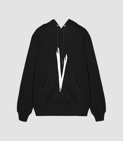 VIBRATE - V CHECKING HOODIE (BLACK)