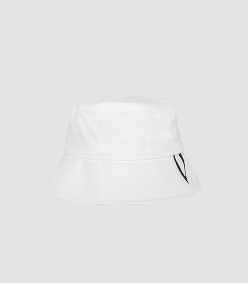 HUGE V BUCKET HAT (WHITE)