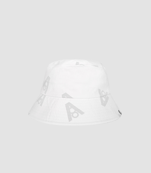 LOGO DOT BUCKET HAT (WHITE)
