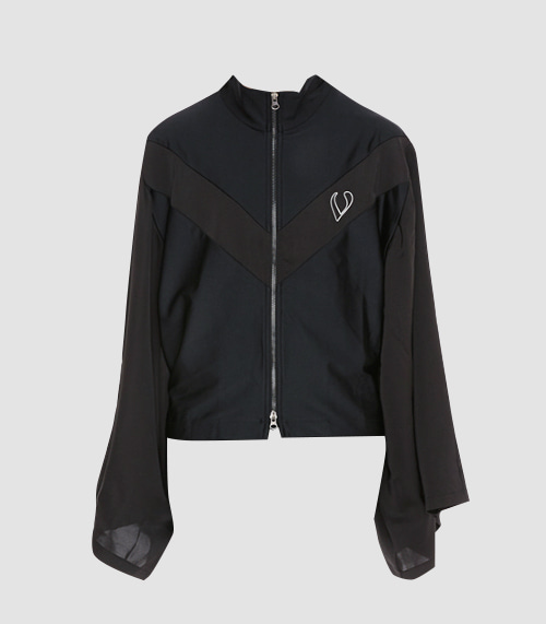 CAPE SHORT JACKET (BLACK)