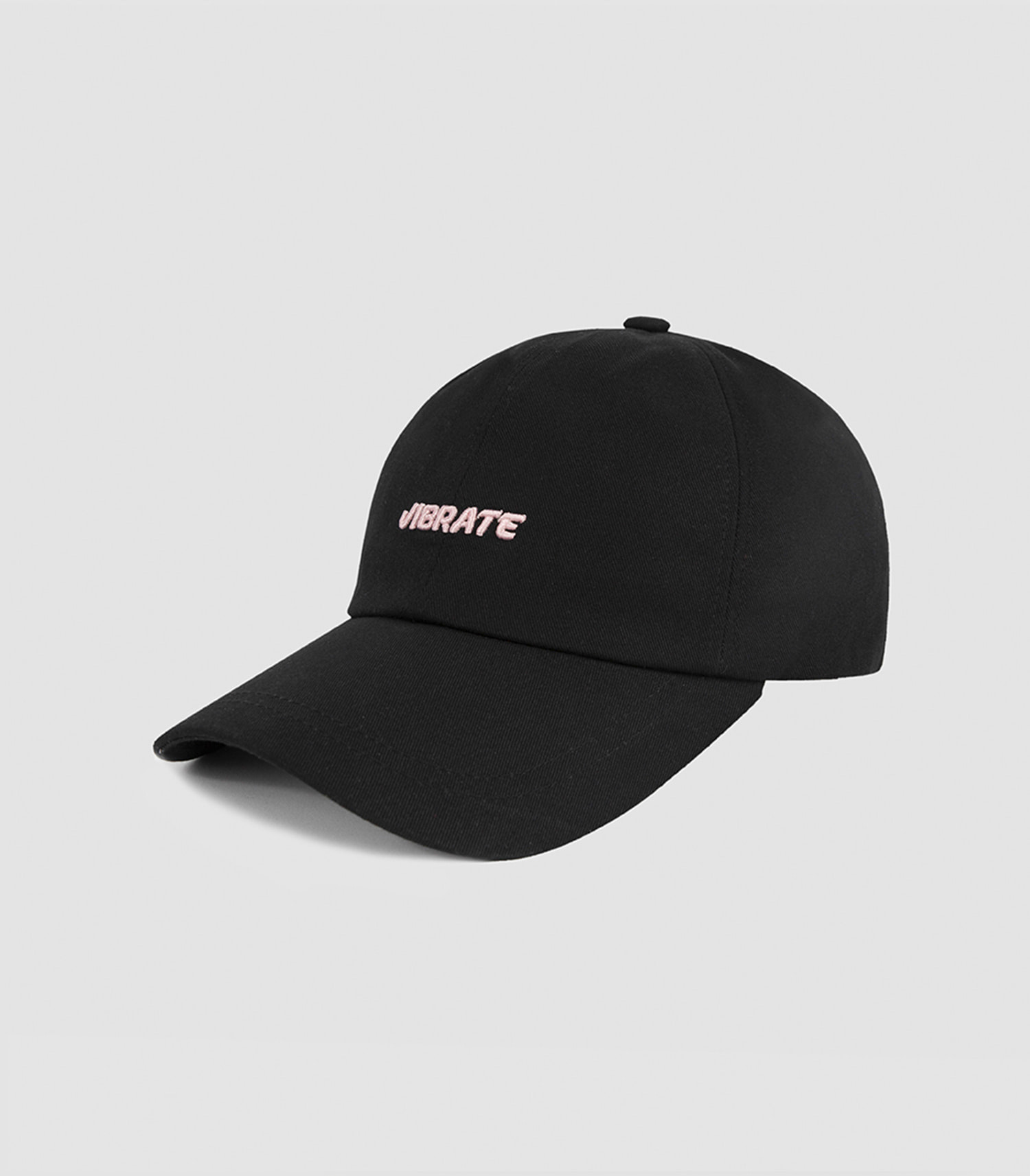 VIBRATE - 3D BASIC BALL CAP (light pink&black)