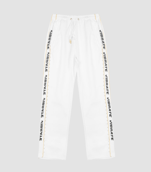 GOLDLINE SIDE LOGO PANTS (WHITE)