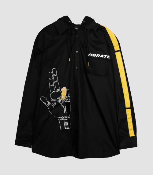 GOLDLINE SIDE FINGER HOODIE JACKET (BLACK)