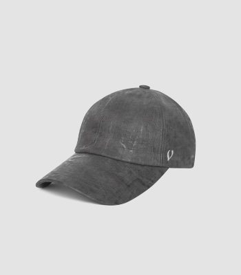 VINTAGE OIL LEATHER BALL CAP (GRAY)