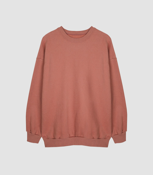 DAILY AND EASY BASIC SWEATSHIRTS (CORAL PINK)