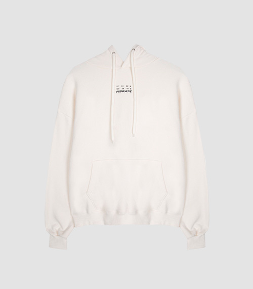 [UNISEX]DAILY AND COMFORTABLE BASIC HOODIE(IVORY)