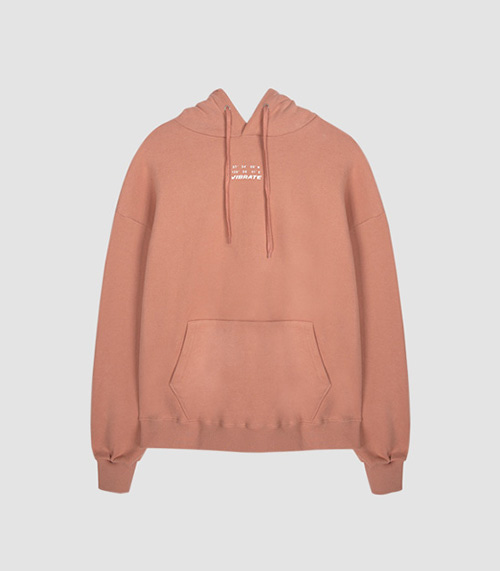 [UNISEX]DAILY AND COMFORTABLE BASIC HOODIE(CORAL PINK)