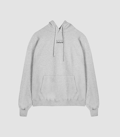 [UNISEX]DAILY AND COMFORTABLE BASIC HOODIE(GRAY)