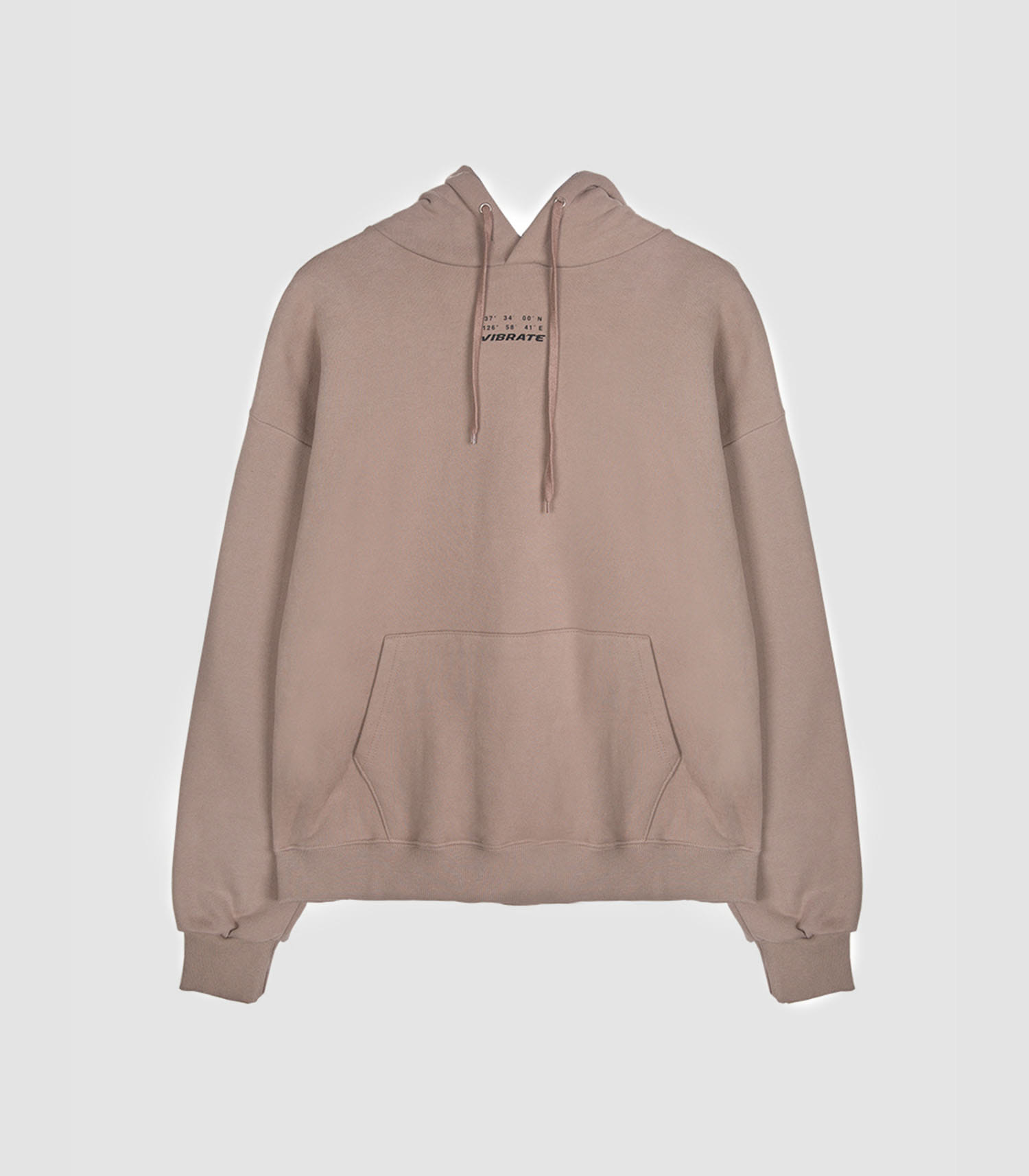 [UNISEX]DAILY AND COMFORTABLE BASIC HOODIE(BROWN)