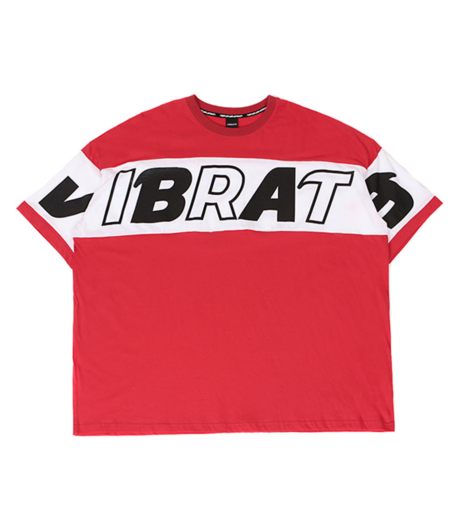 VIBRATE - COLOR SCHEME LOGO T-SHIRT (WHITE&RED)