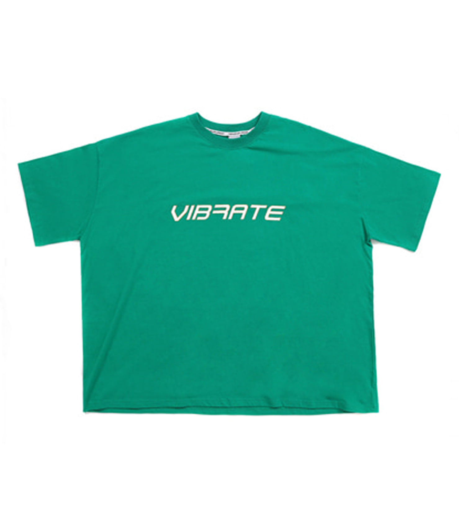 LETTERING HAND SHAKE SIGN T-SHIRT (GREEN)