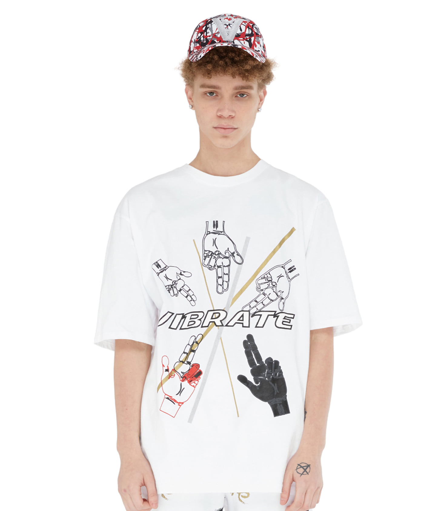 GOLDLINE FINGER ARTWORK T-SHIRT (WHITE)