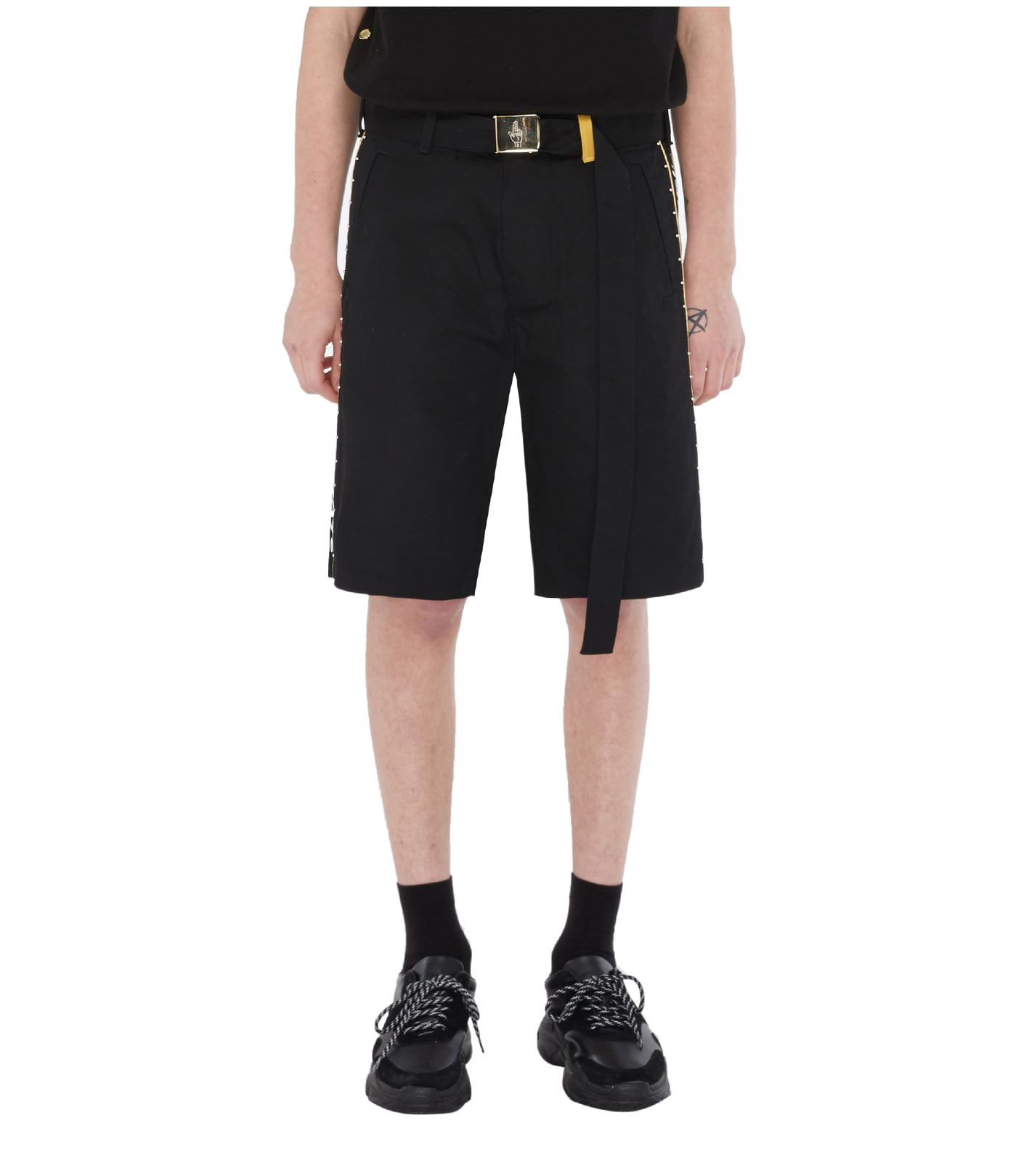 BELT DETAIL SHORT PANTS (BLACK)