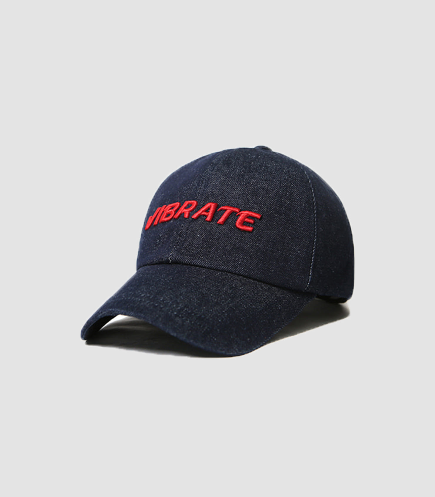 SIGNATURE DENIM BALL CAP (RED)