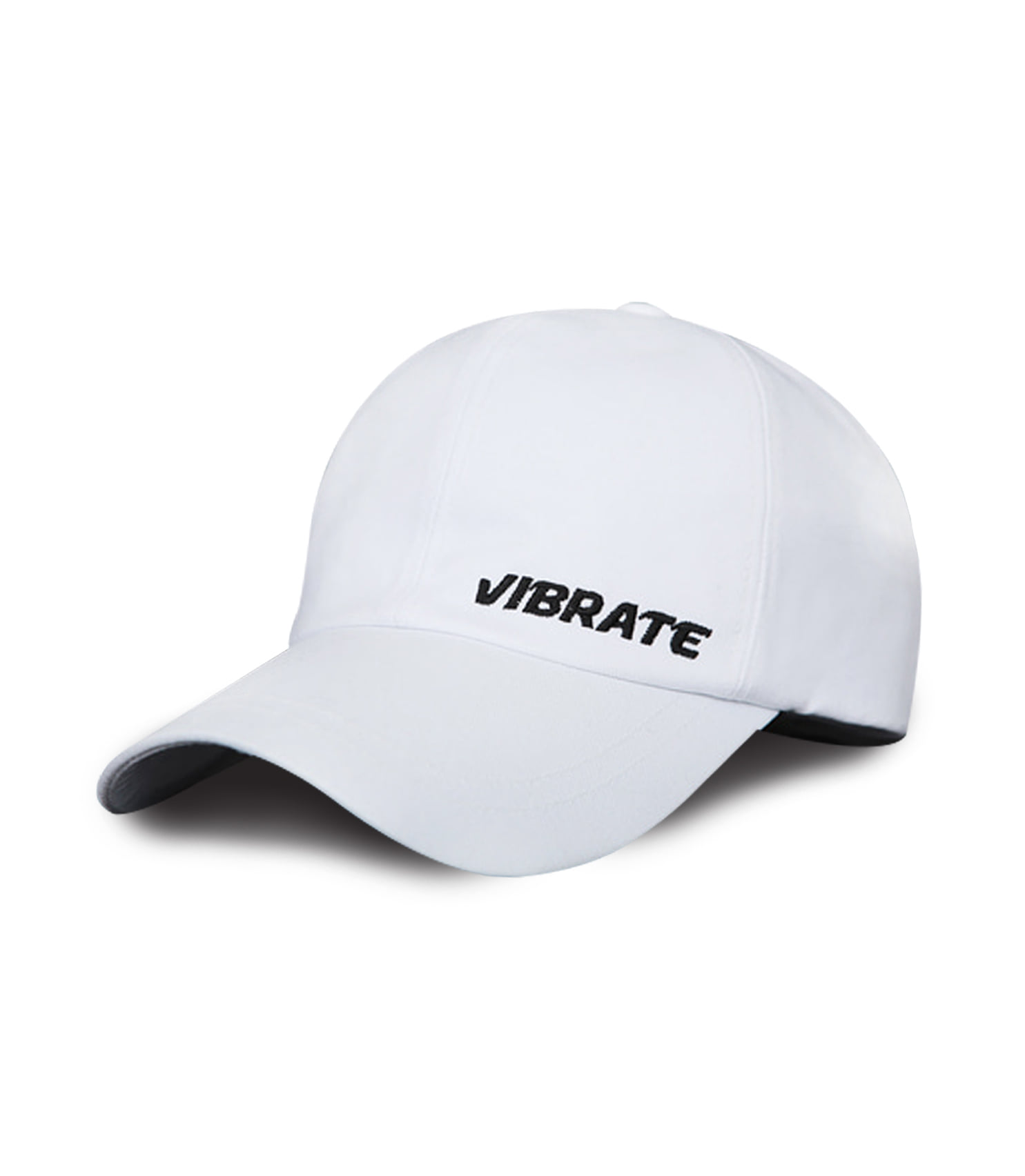 VIBRATE - BASIC SIDE LOGO BALL CAP (WHITE)