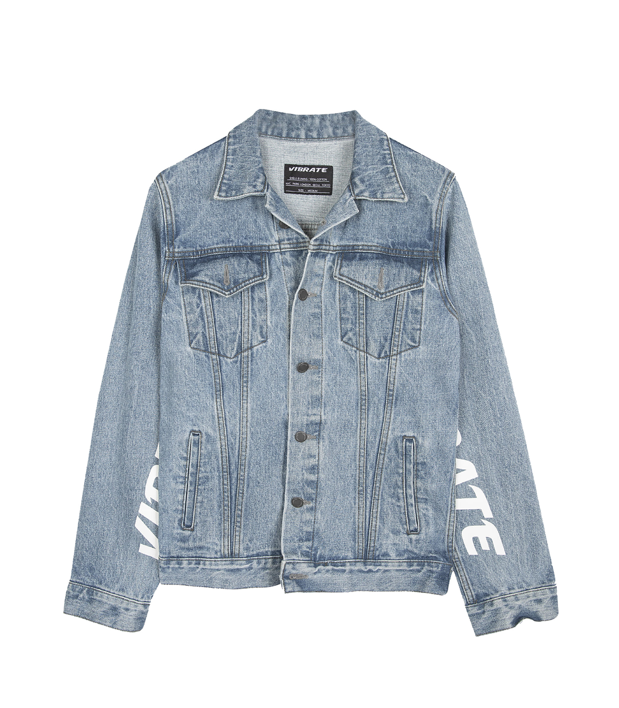 DAMAGED DENIM JACKET (DENIM)