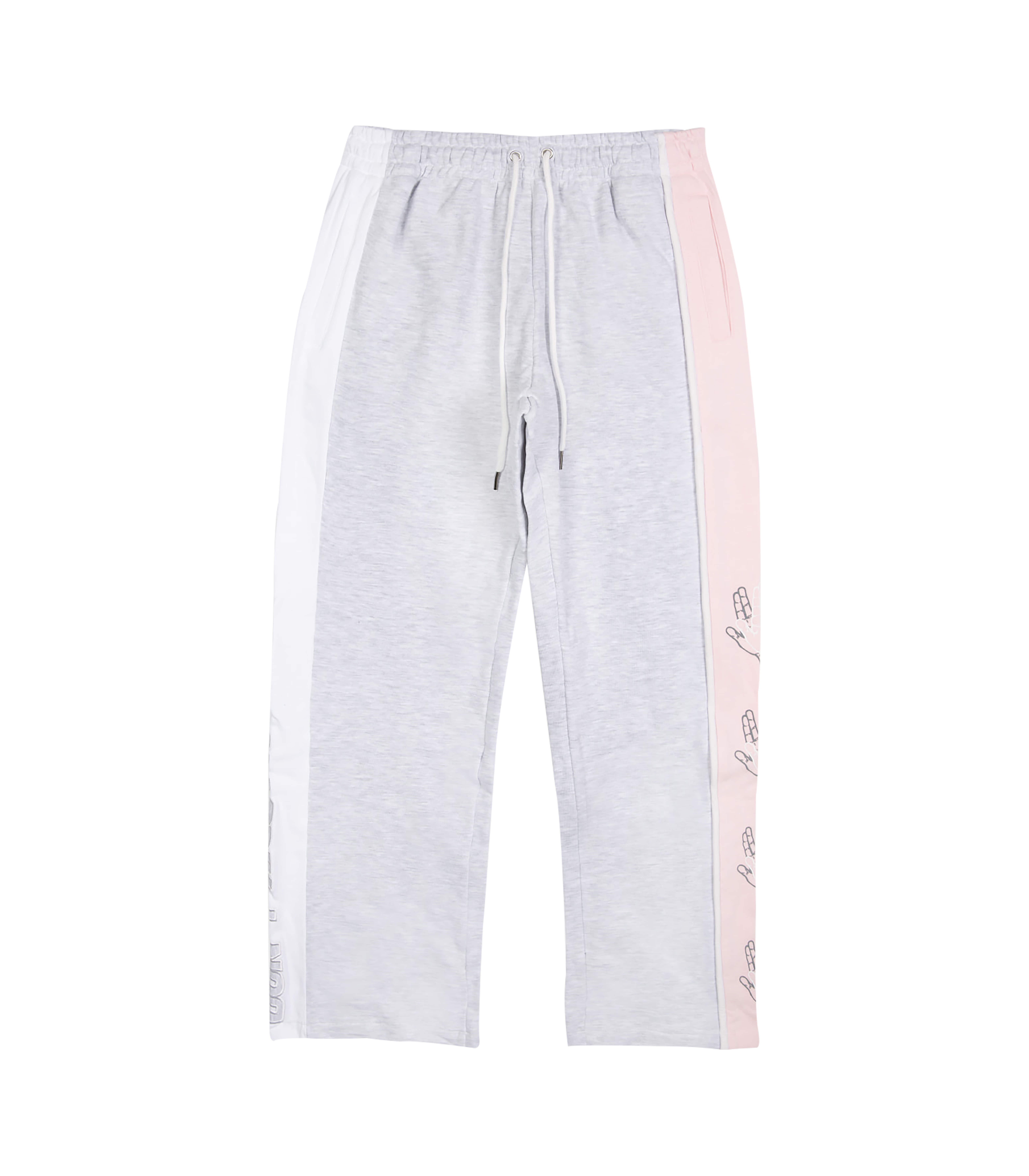 SIDE COLOR SCHEME SWEAT PANTS (MELANGE&PINK)